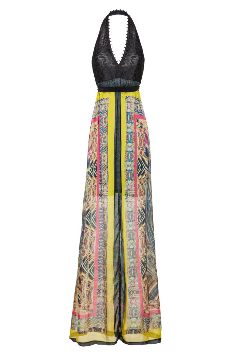 Ana Alcazar Maxi Silk Dress Fortinea