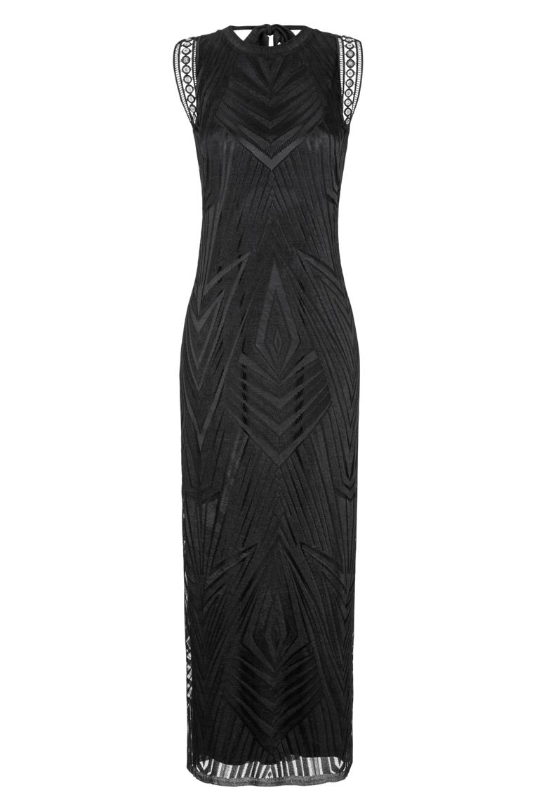 Ana Alcazar Maxi  Dress Black Felisas