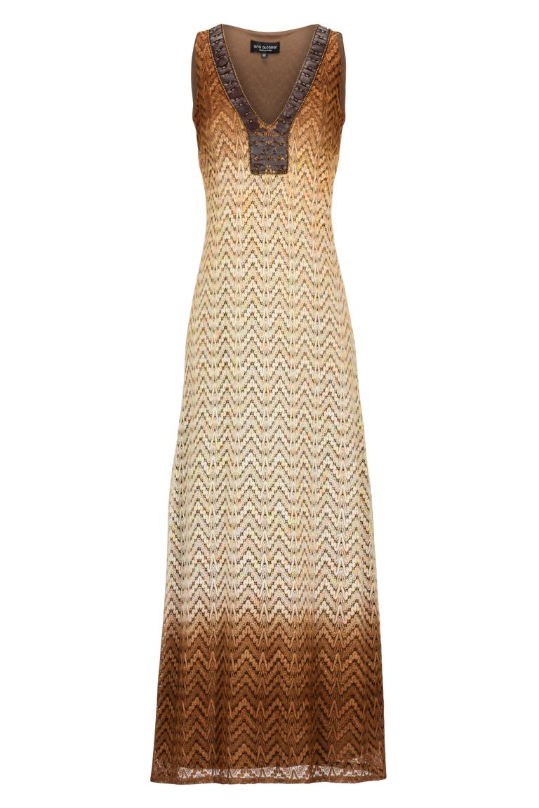ana alcazar Knitted Maxi Dress Ademesty