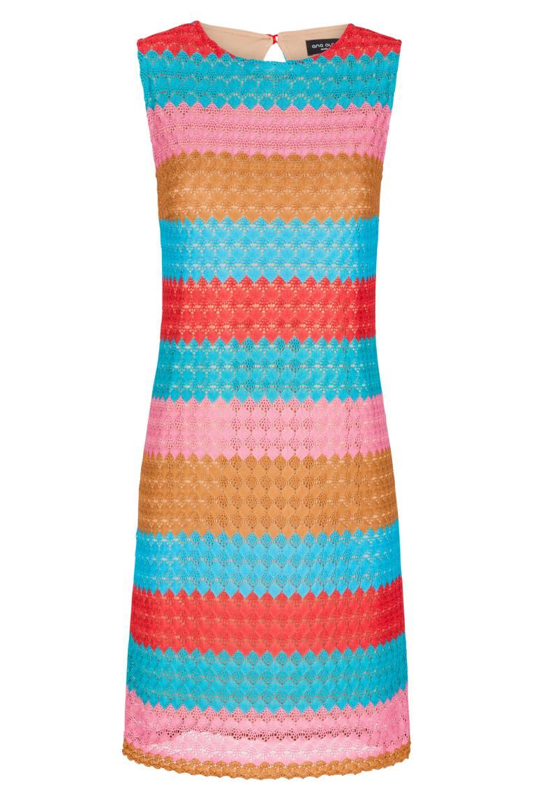 Ana Alcazar Häkel A-Linien Kleid Fernanday