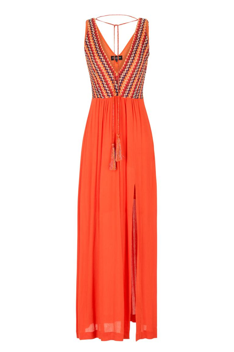 6ba8b715c575cd Orange Maxi Dress Geneava Knitted Top