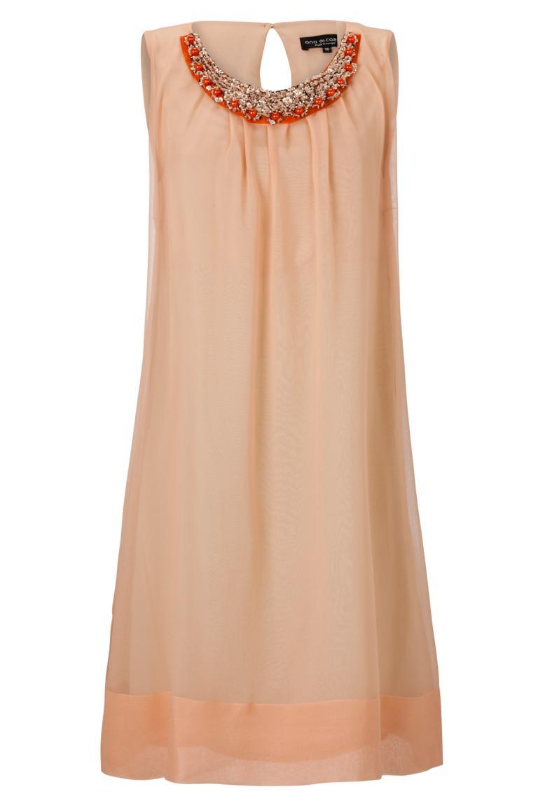 ana alcazar Black Label Rosa A-Linien Kleid No.43