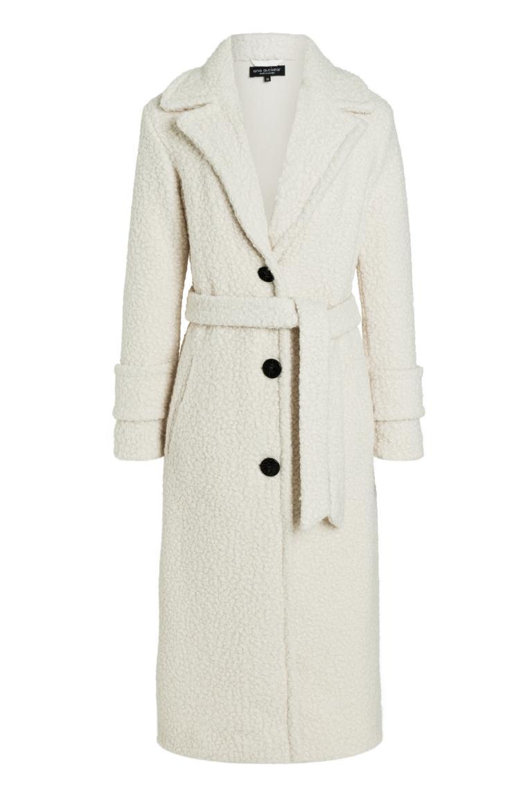 Ana Alcazar Maxi Coat Oneya White