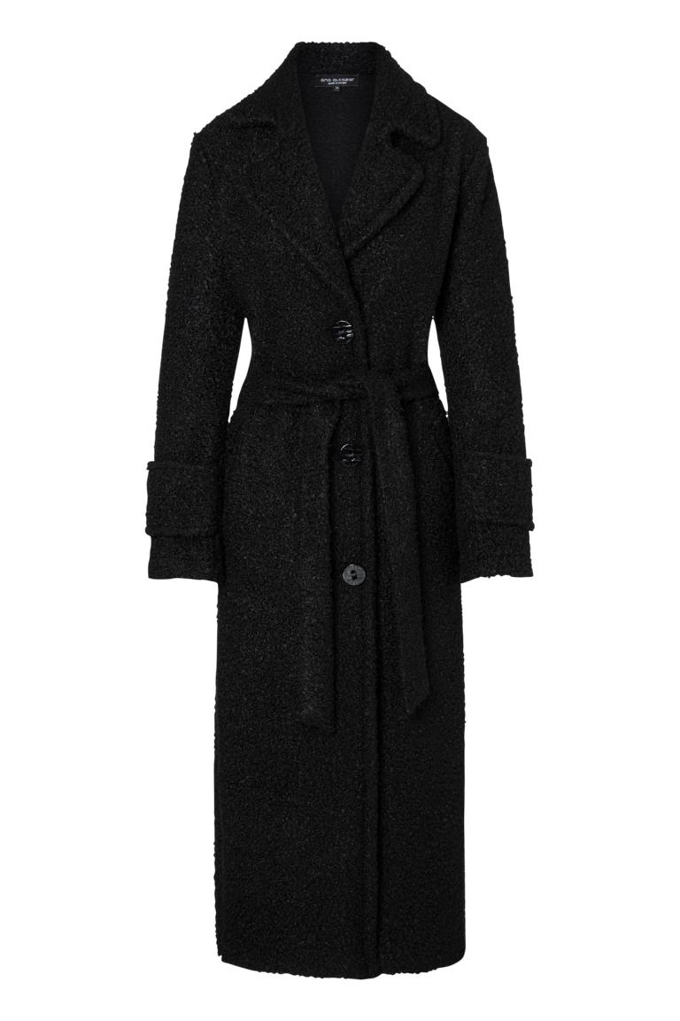 Ana Alcazar Maxi Coat Onya Black