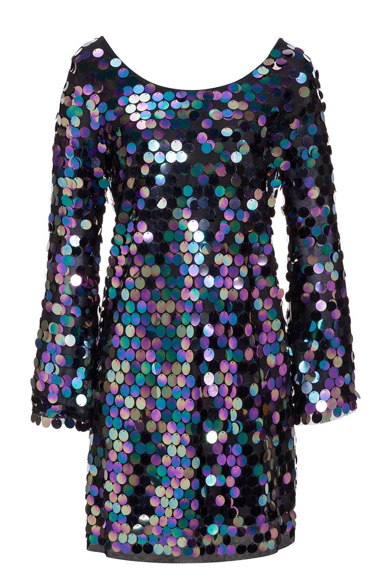 Ana Alcazar Black Label Sequin Minidress Juvendy