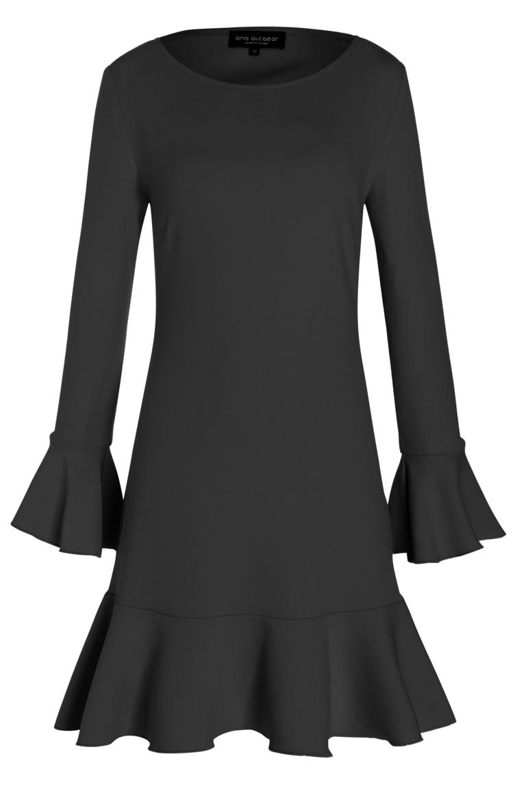 Ana Alcazar Volant Dress Paloa Black