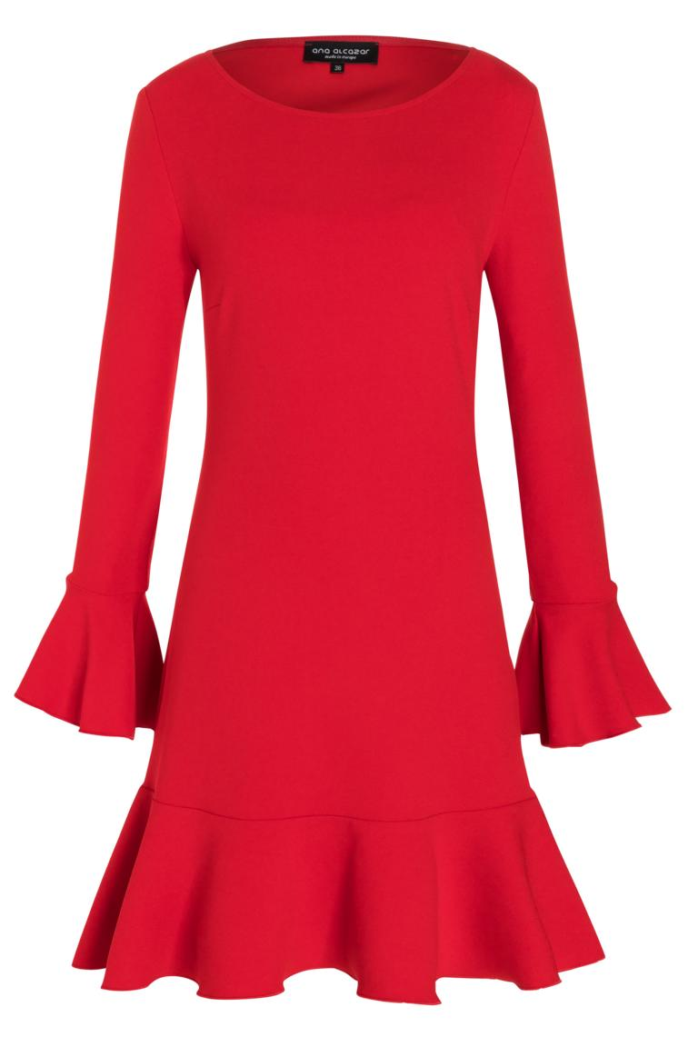Ana Alcazar Volant Dress Palea Red