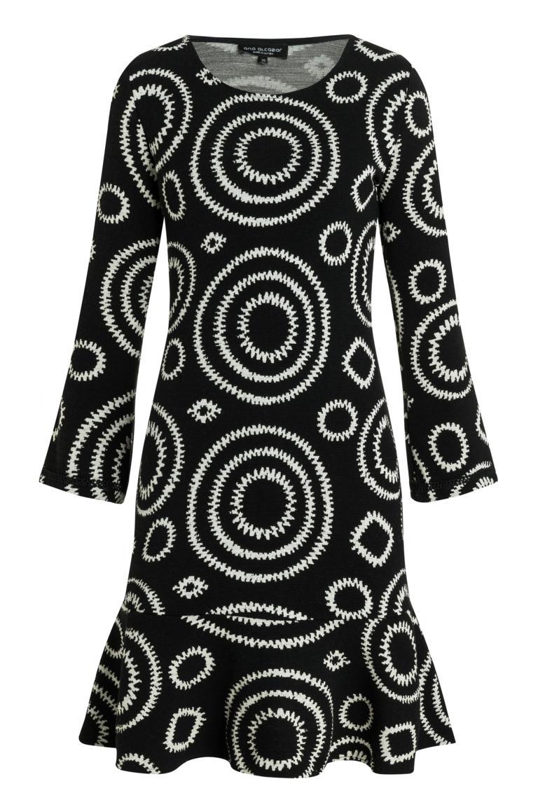 Ana Alcazar Volant Dress Presena Black