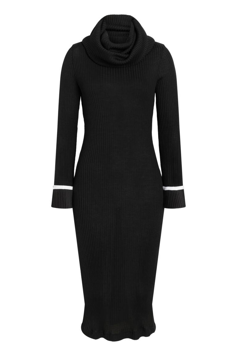 Ana Alcazar Midi Dress Ponia Black
