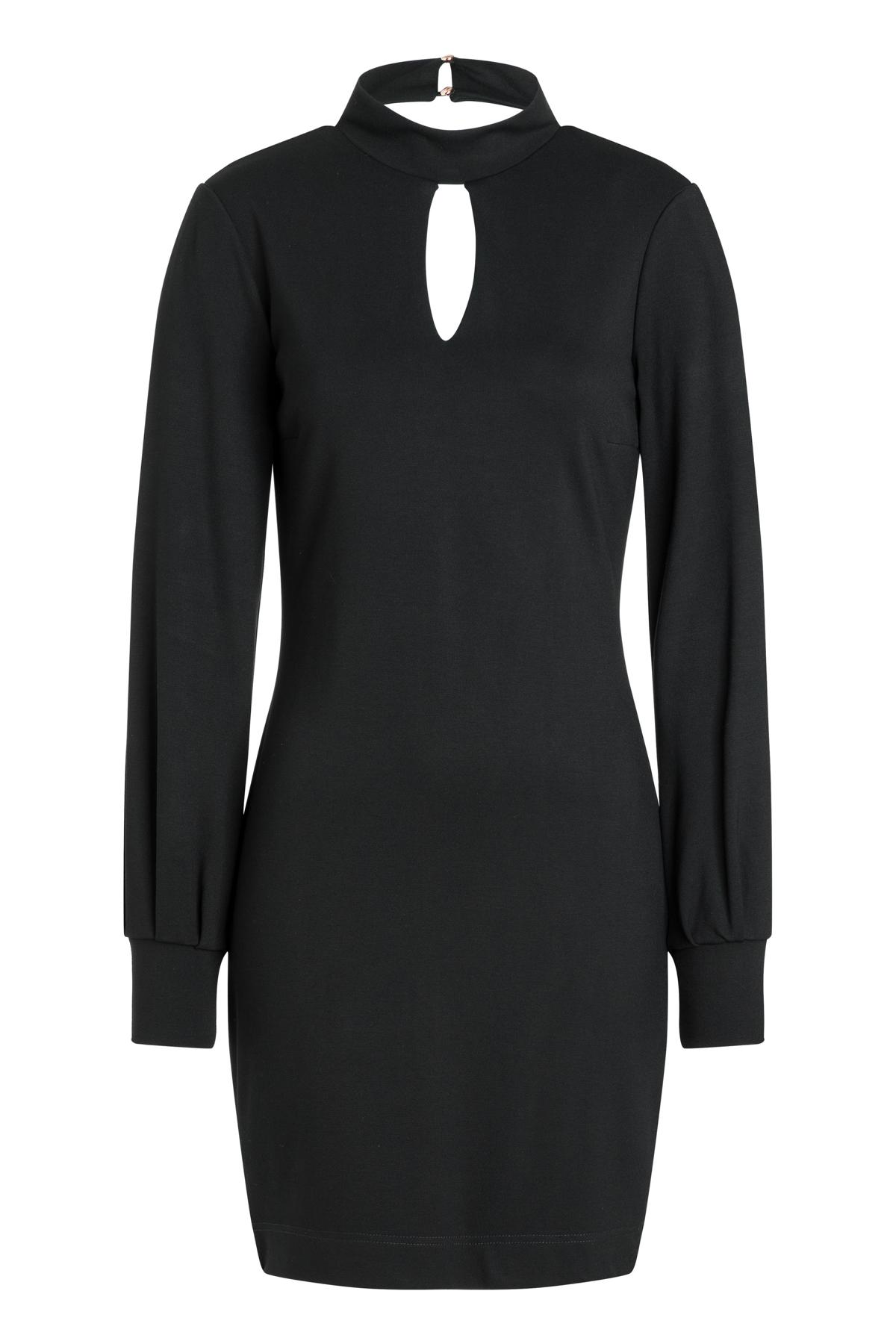 Ana Alcazar Puff Sleeve Dress Resya Black