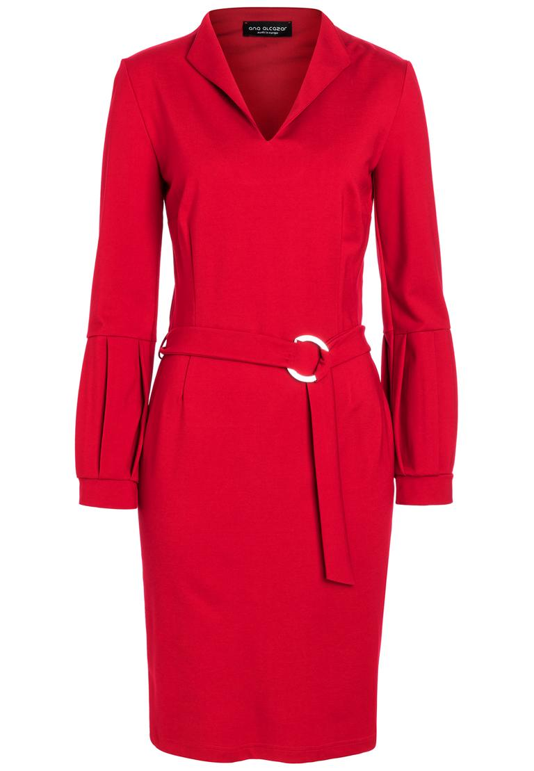 Ana Alcazar Belt Dress Resyly Red