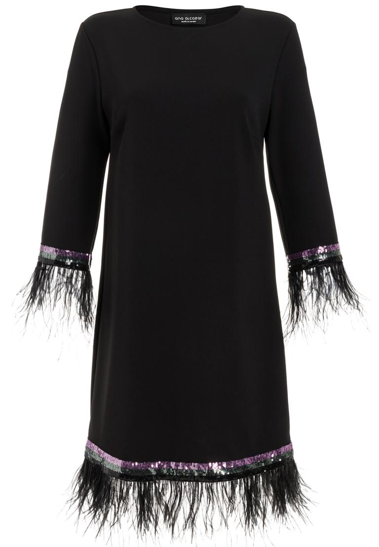 Ana Alcazar Feather Dress Rivya