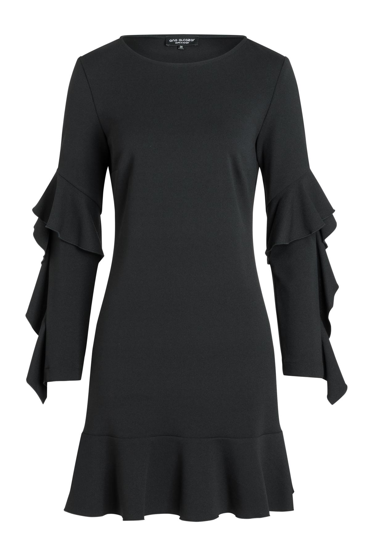 Ana Alcazar Volantsleeve Dress Romy Black