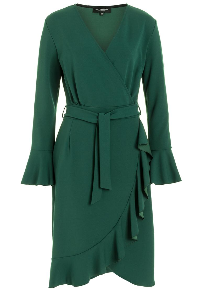 Ana Alcazar Wrap Dress Romela Green