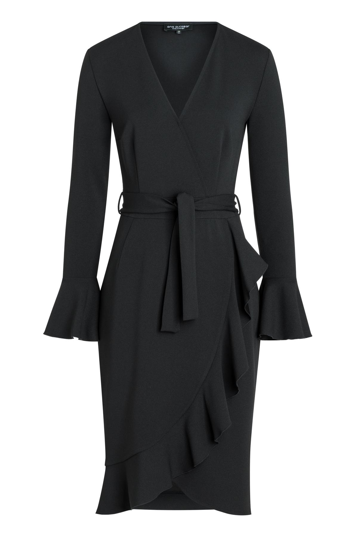 Ana Alcazar Wrap Dress Romyla Black