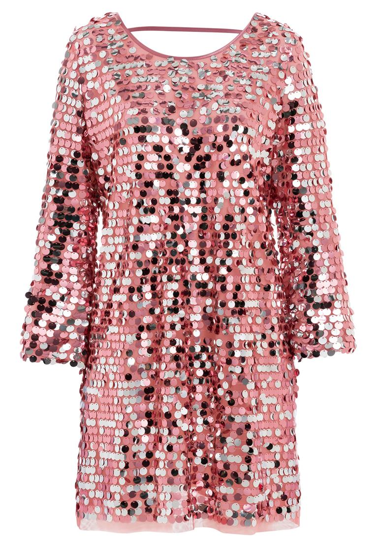 Ana Alcazar Glam Pailletten Kleid Rhetas Rose