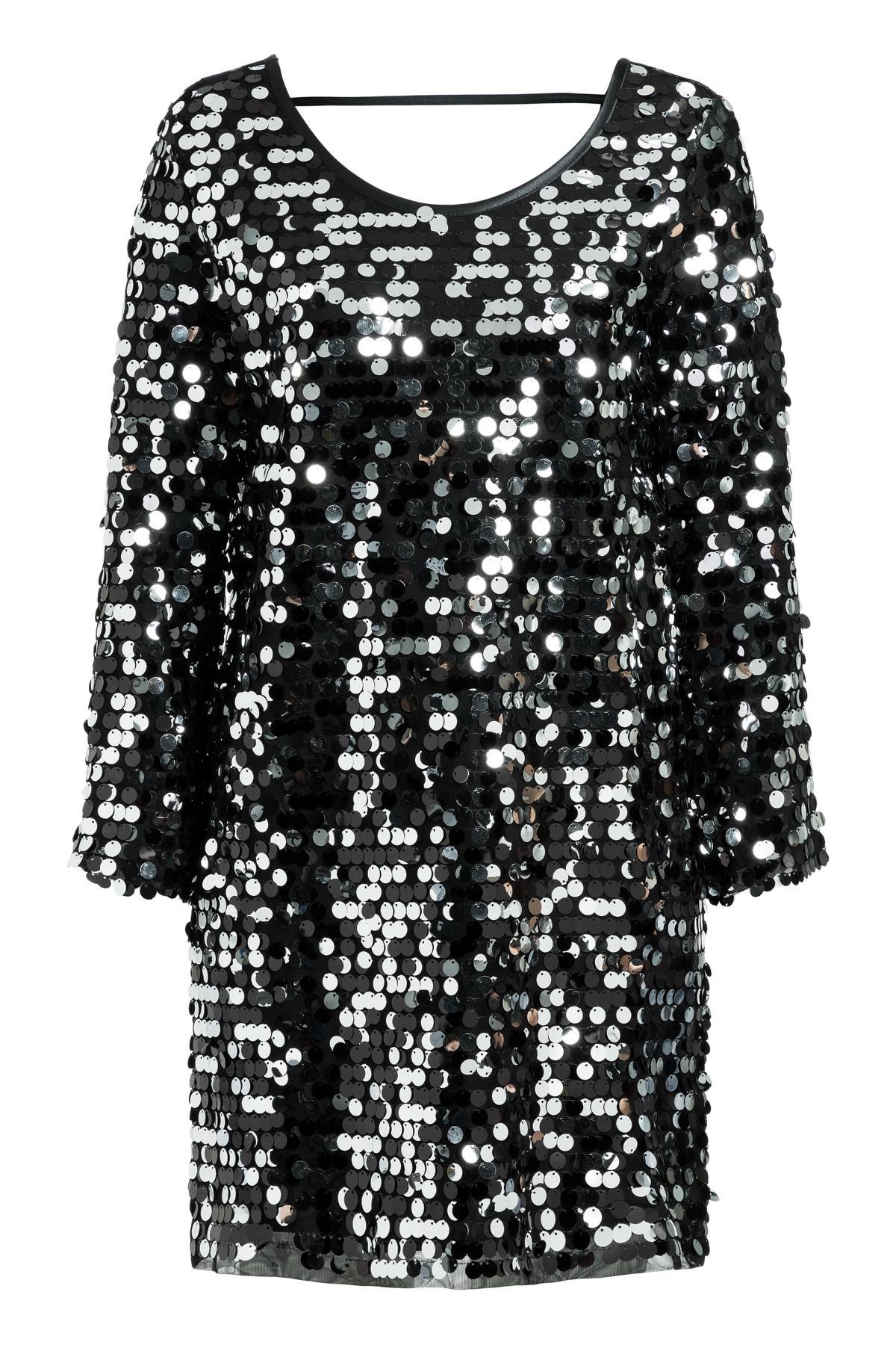 Schwarzes Paillettenkleid Rhetys für lange Partynächte  Ana Alcazar