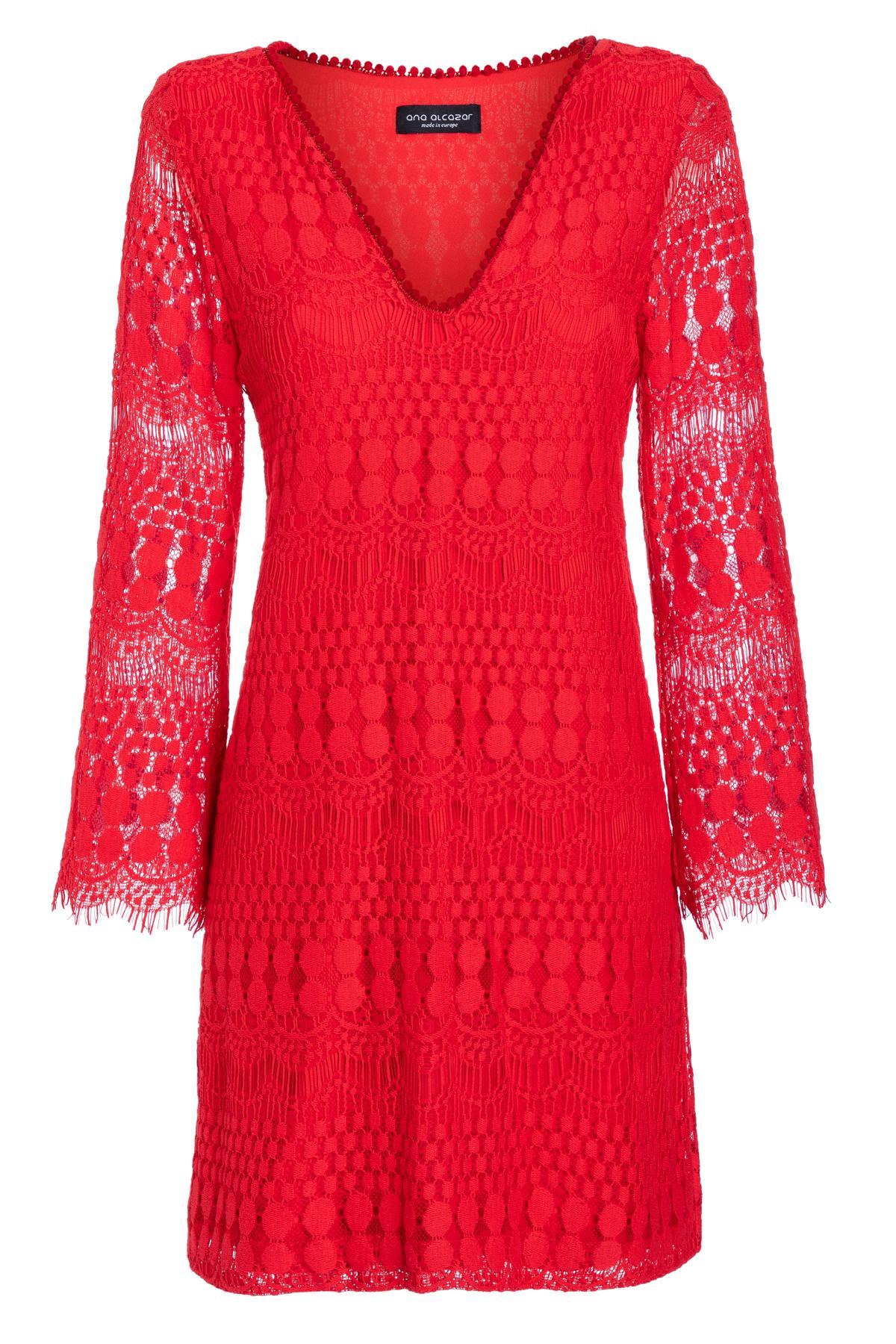 Ana Alcazar Tunic Dress Sanicos Red