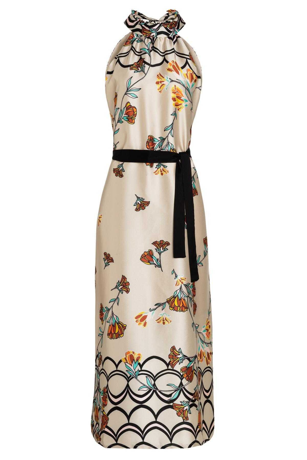 Ana Alcazar Maxi Dress Sefady Beige