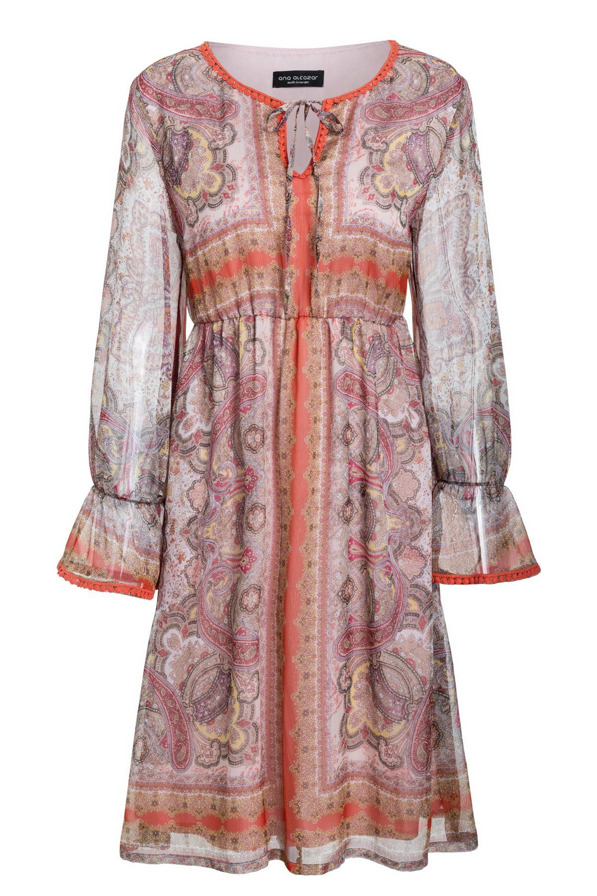 Ana Alcazar Frill Sleeve Dress Semesta