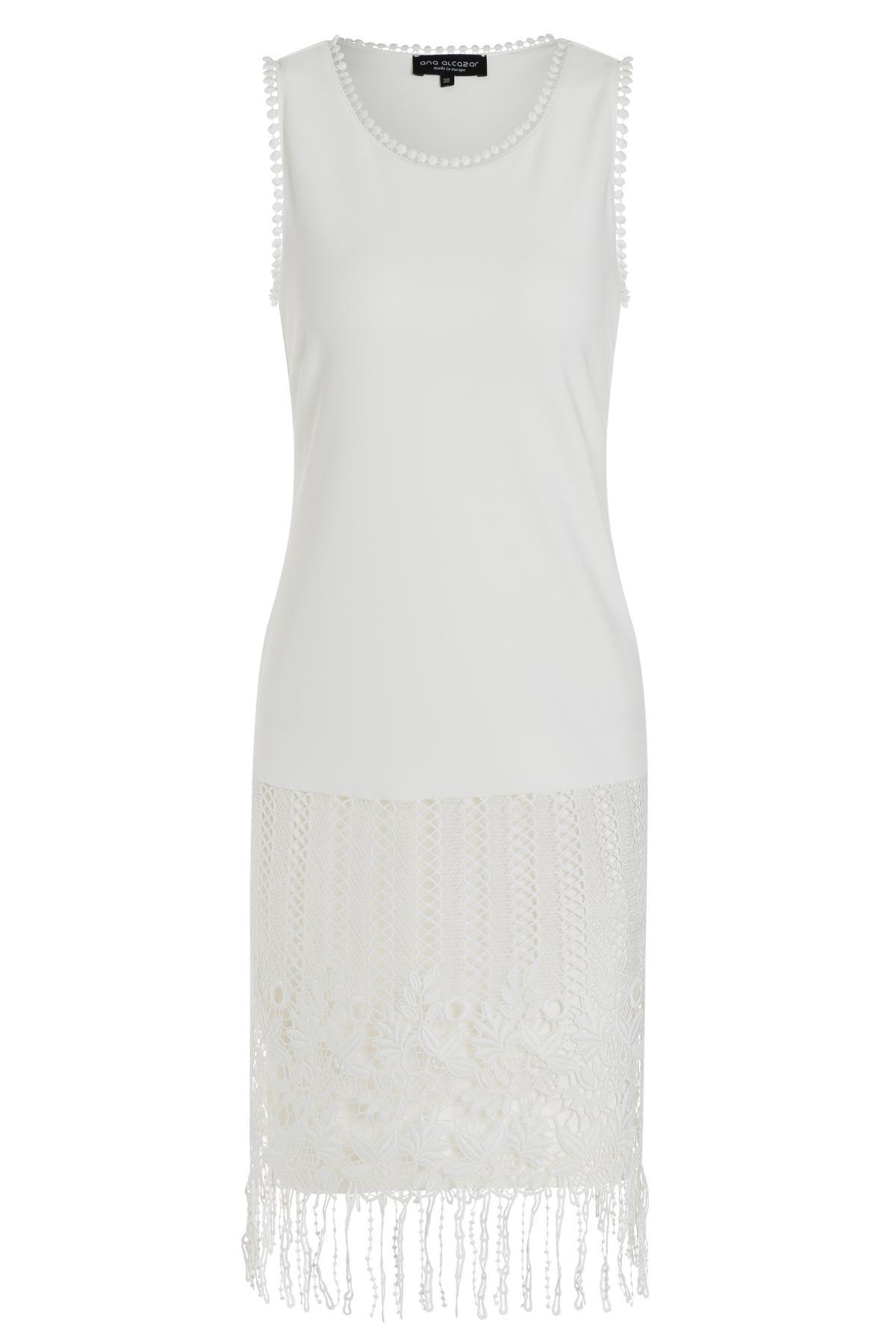 d14c42d9357bd9 Wit Charlston jurk Tadone van kant-mix