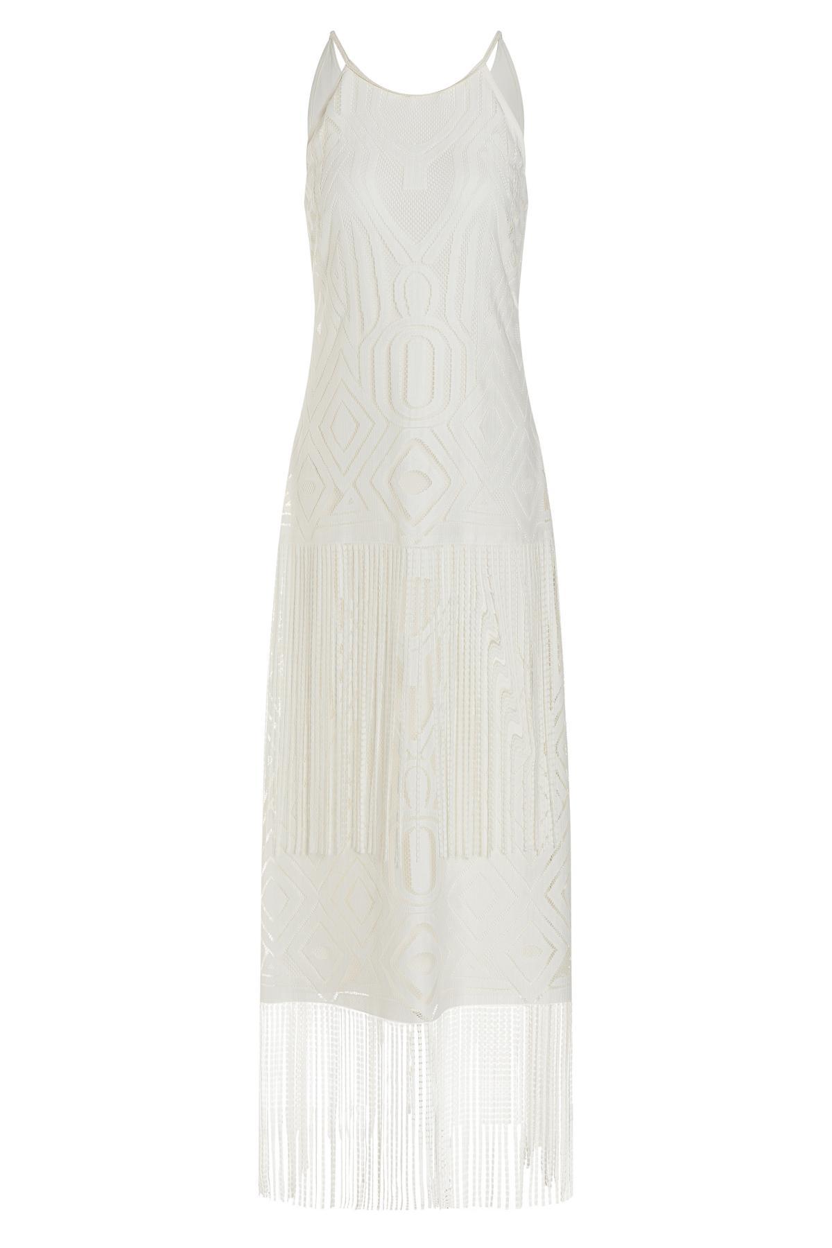 Ana Alcazar Fringe Dress Tahly