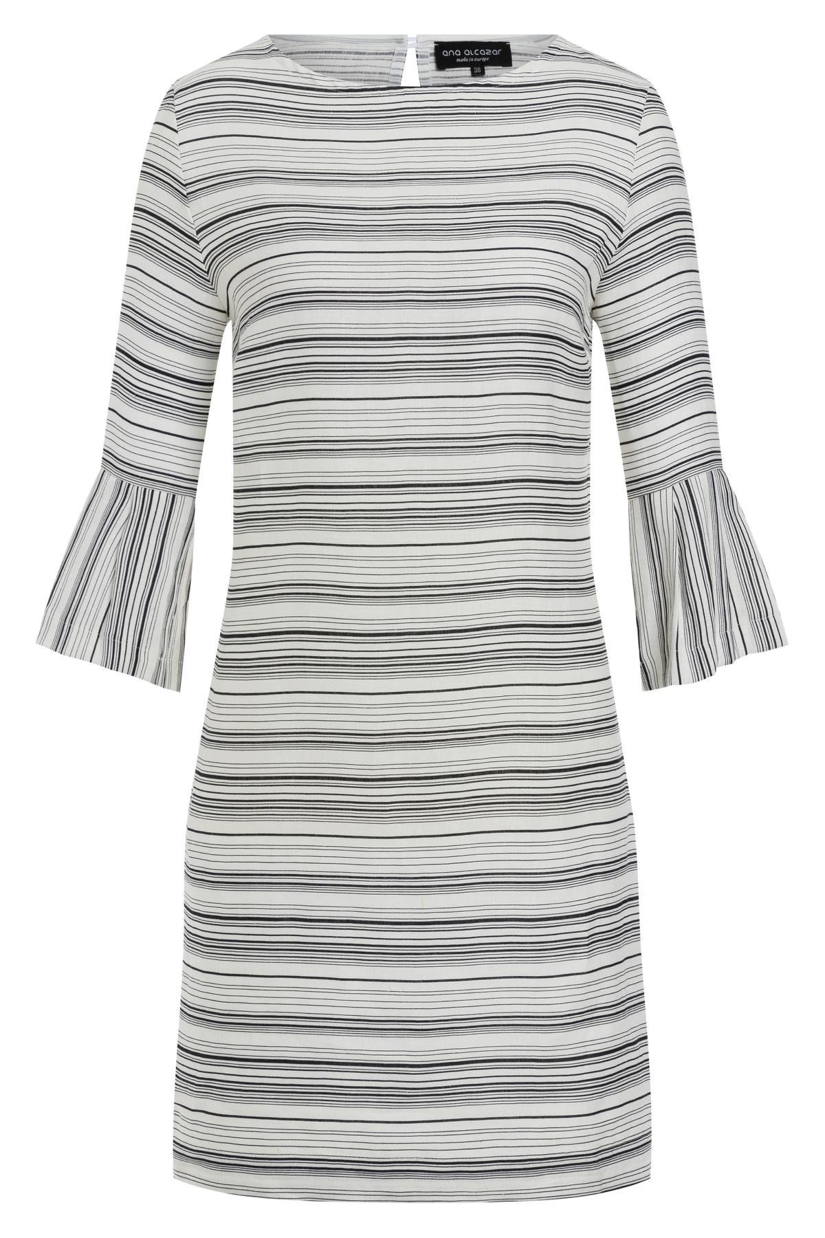 f3af188894a54b Wit linnen jurk Tokata met strepen