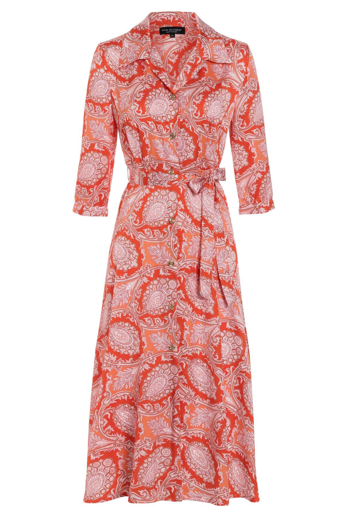 Ana Alcazar Midi Kleid Tefrole Rot