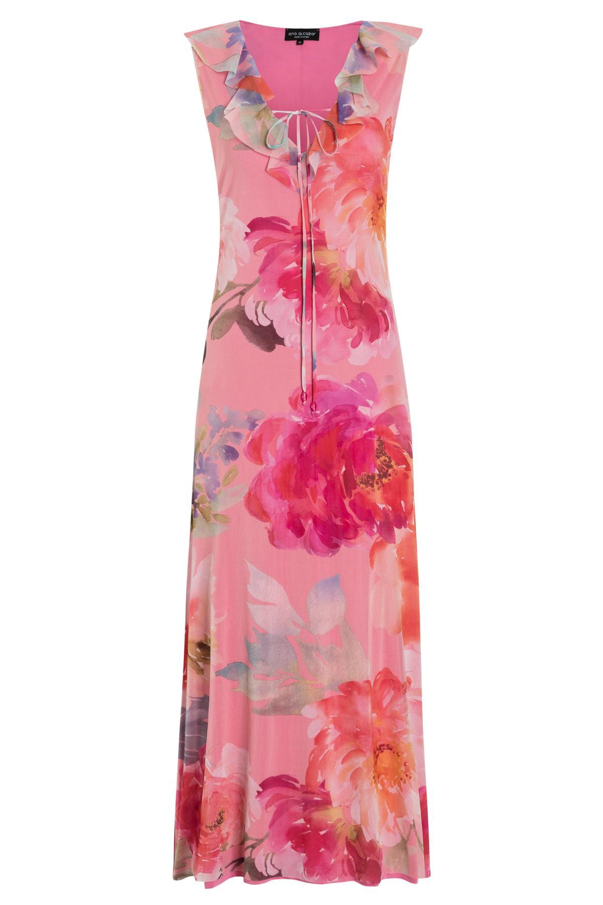 01523ff3c64168 Long Ruffle dress Tegusa from rose flower mesh