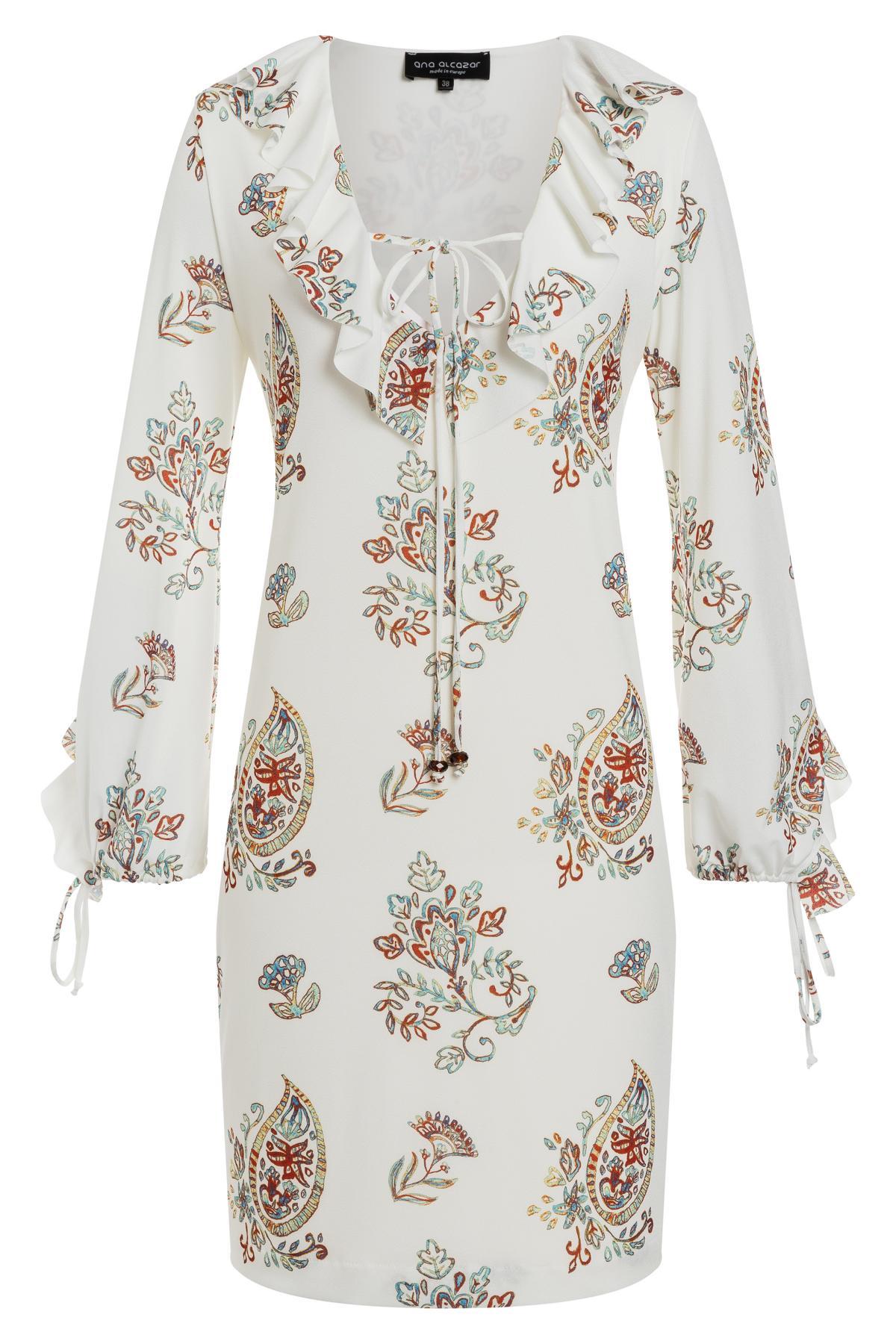 Ana Alcazar Ruffle Dress Tesnury