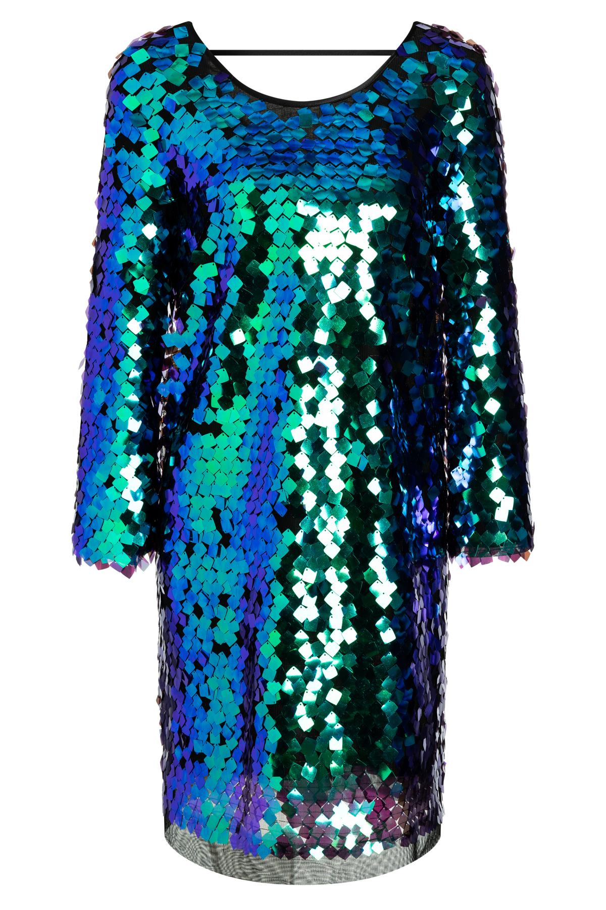 Spektakuläres Paillettenkleid Wanora in Grün & Blau  Ana Alcazar