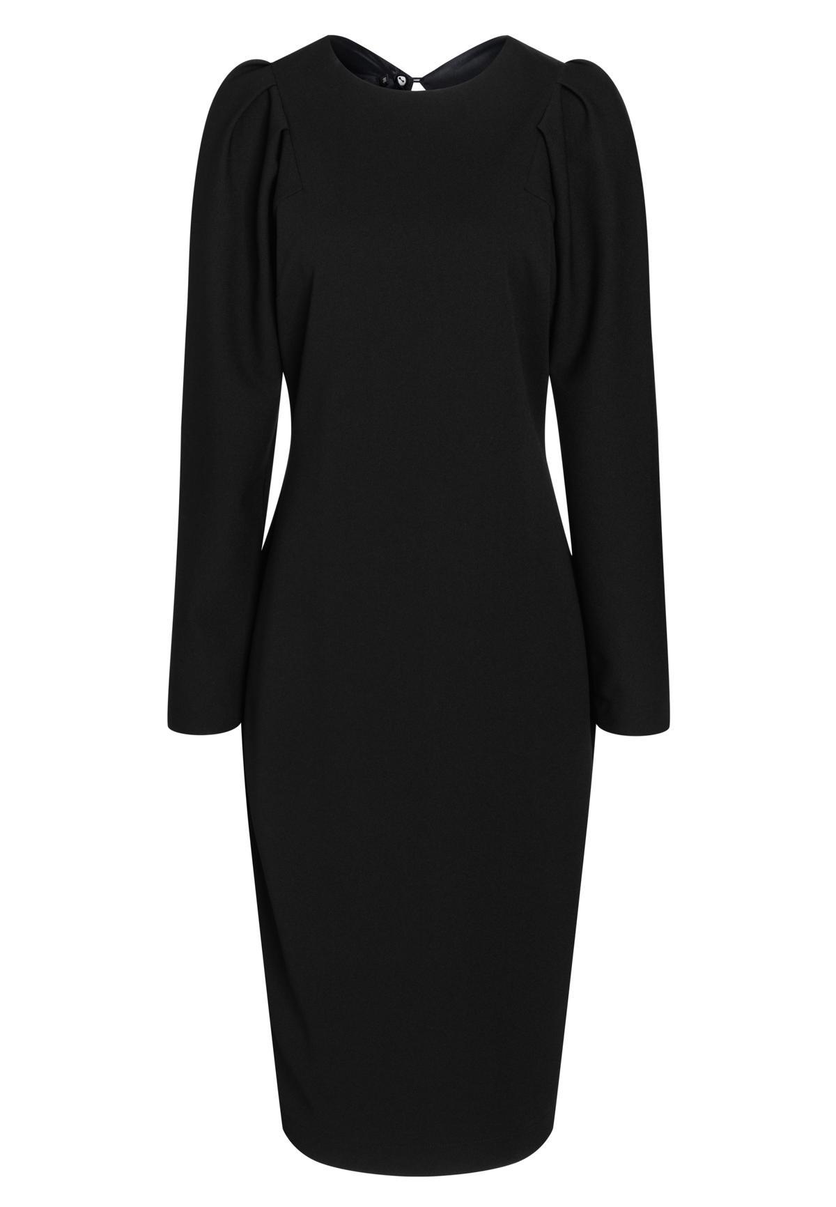 Elegantes Kleid Batri in Schwarz mit langen Ärmeln  Ana Alcazar