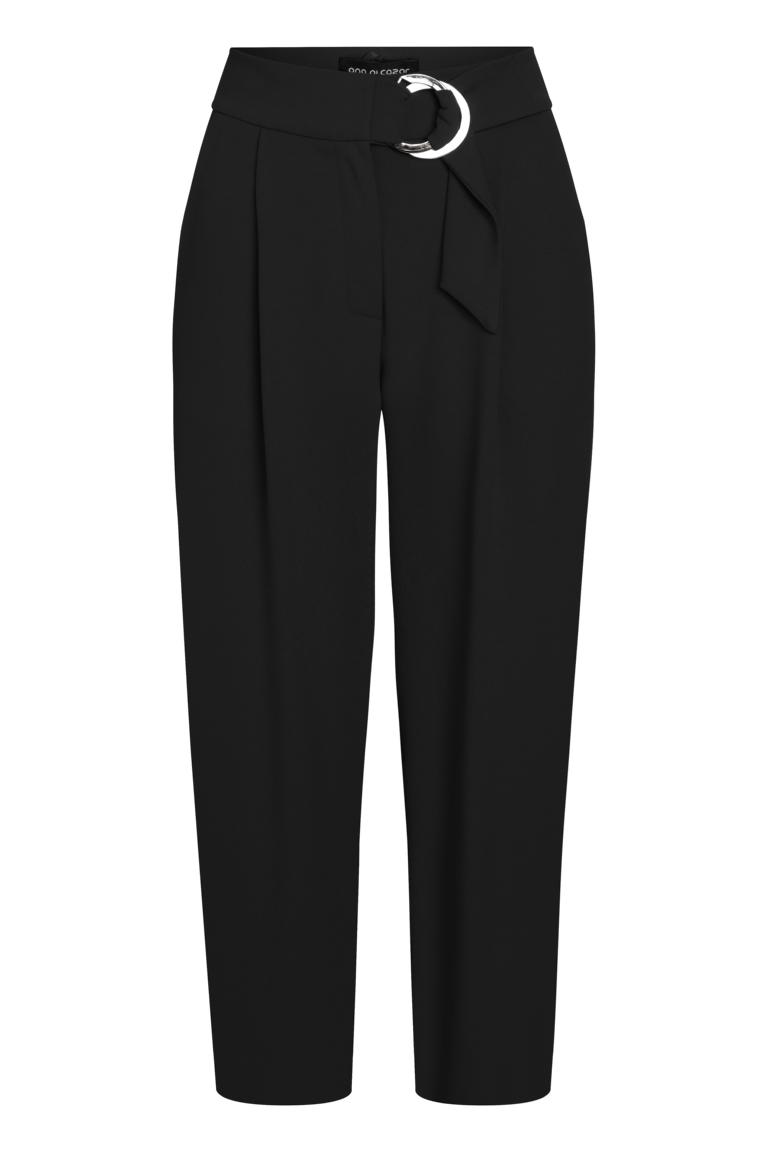 Ana Alcazar Cropped Pants Pera Black