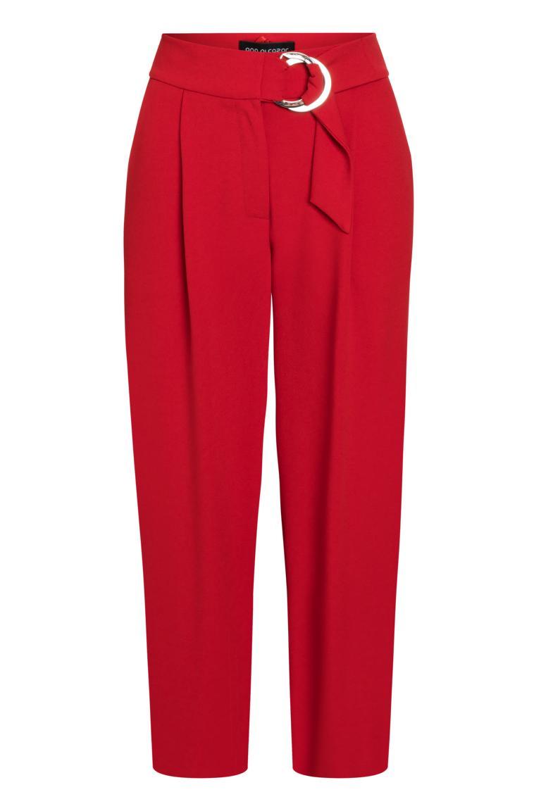 Ana Alcazar Cropped Pants Psara Red