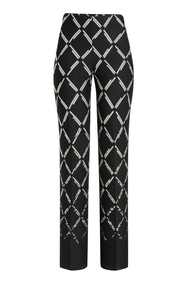 Ana Alcazar Trousers Payala Black-White