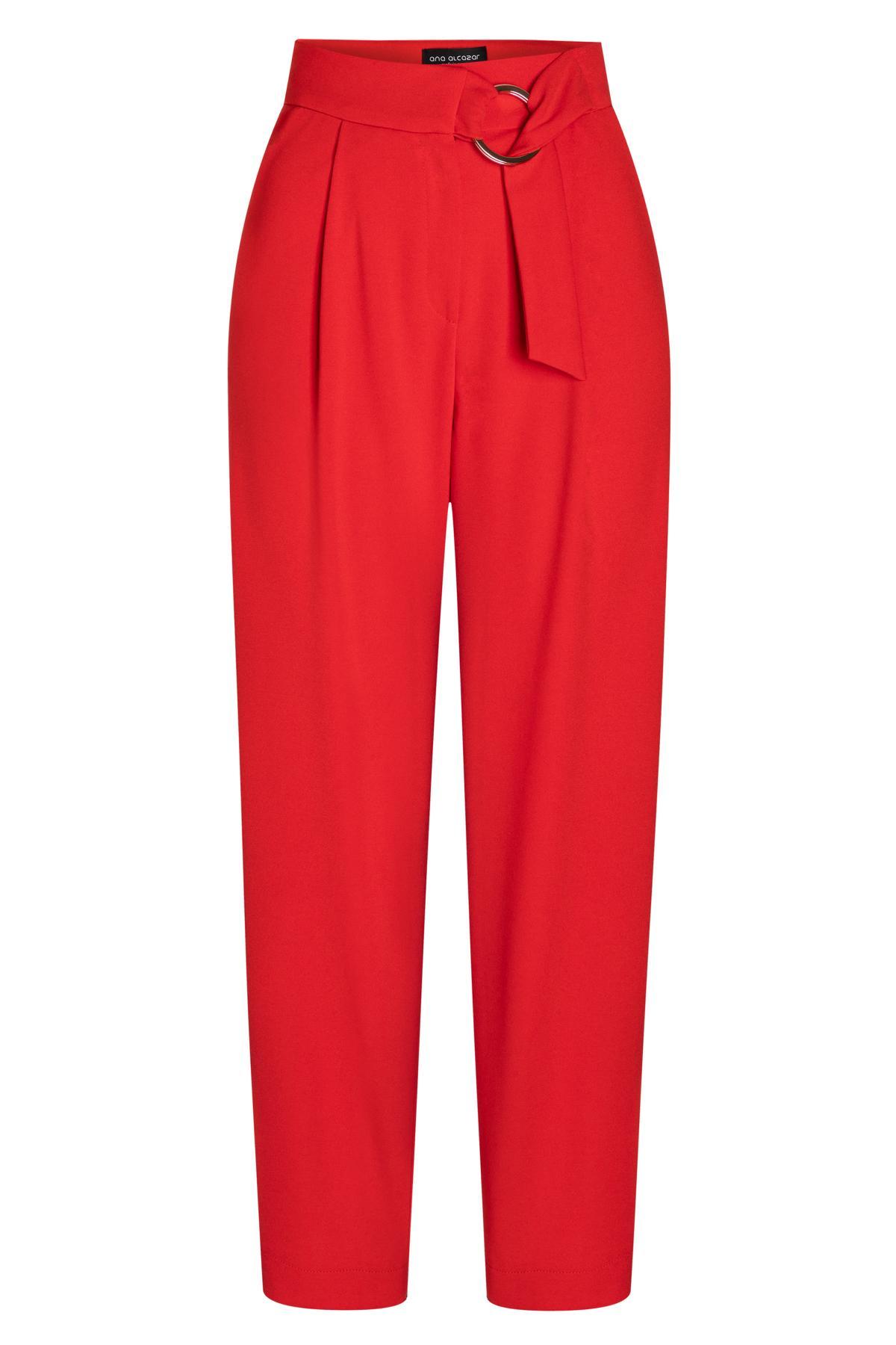 Ana Alcazar Cropped Pants Seadone Red