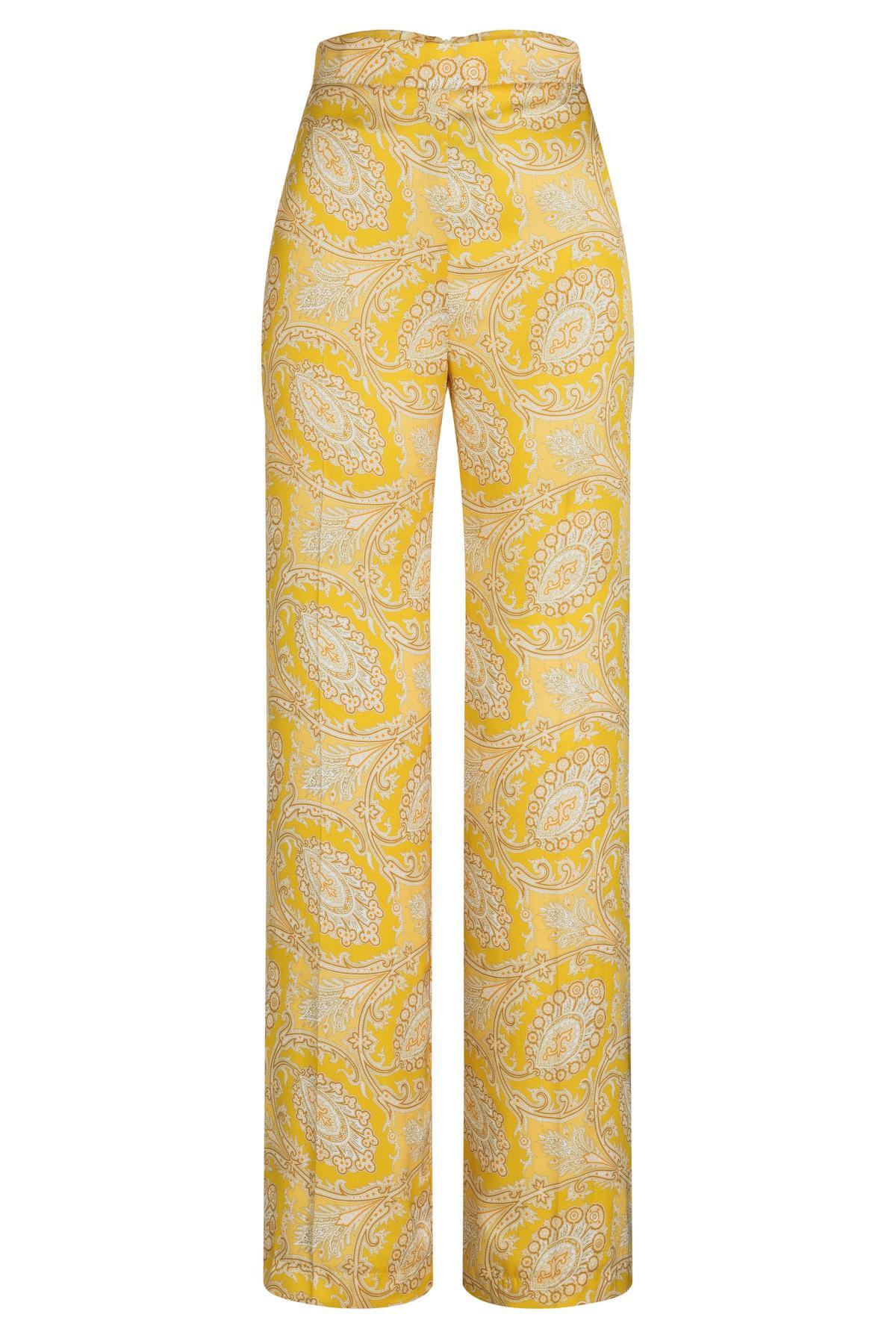 Ana Alcazar Paisley Pant Tefnara Yellow