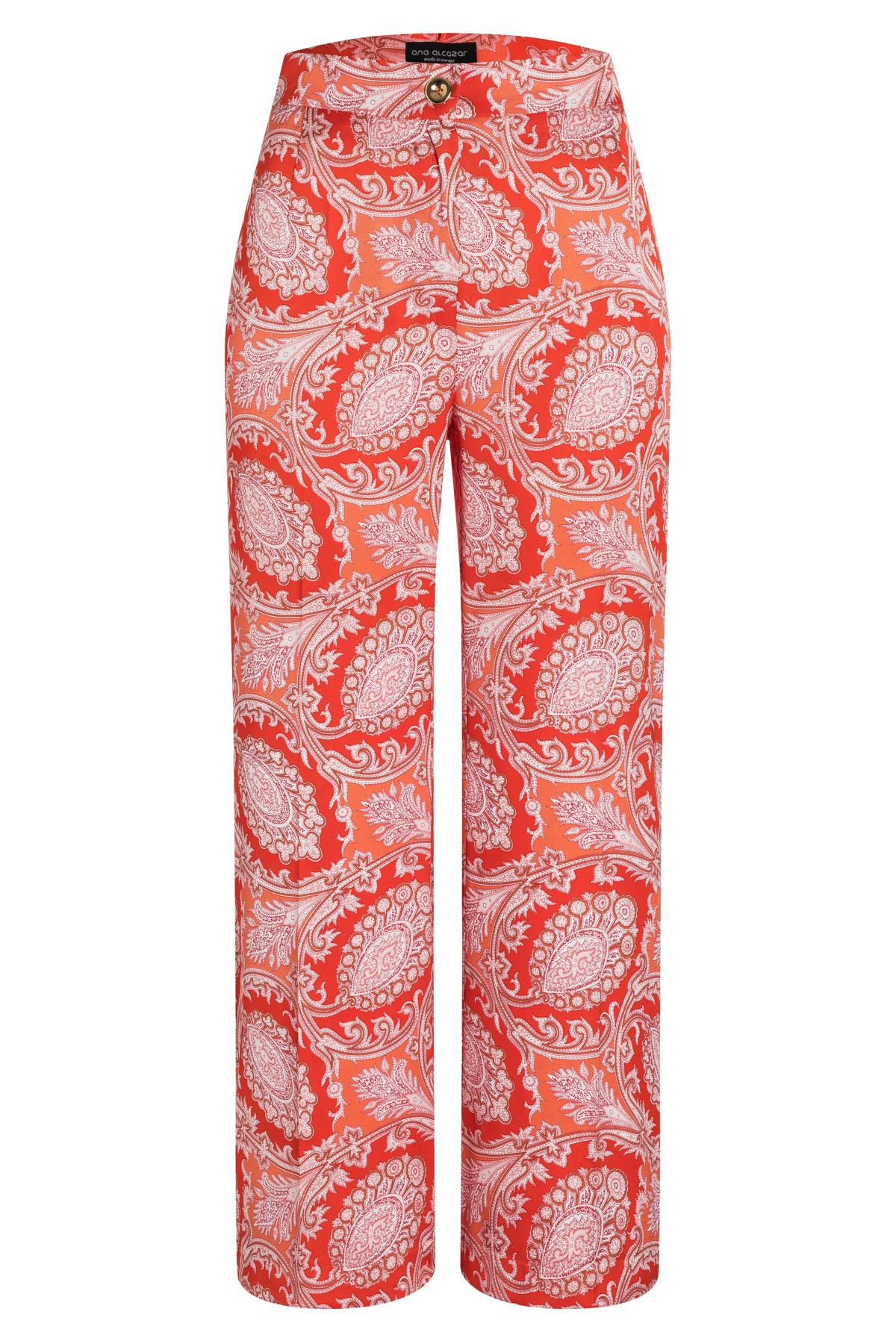 Ana Alcazar Cropped Pant Tefris Red