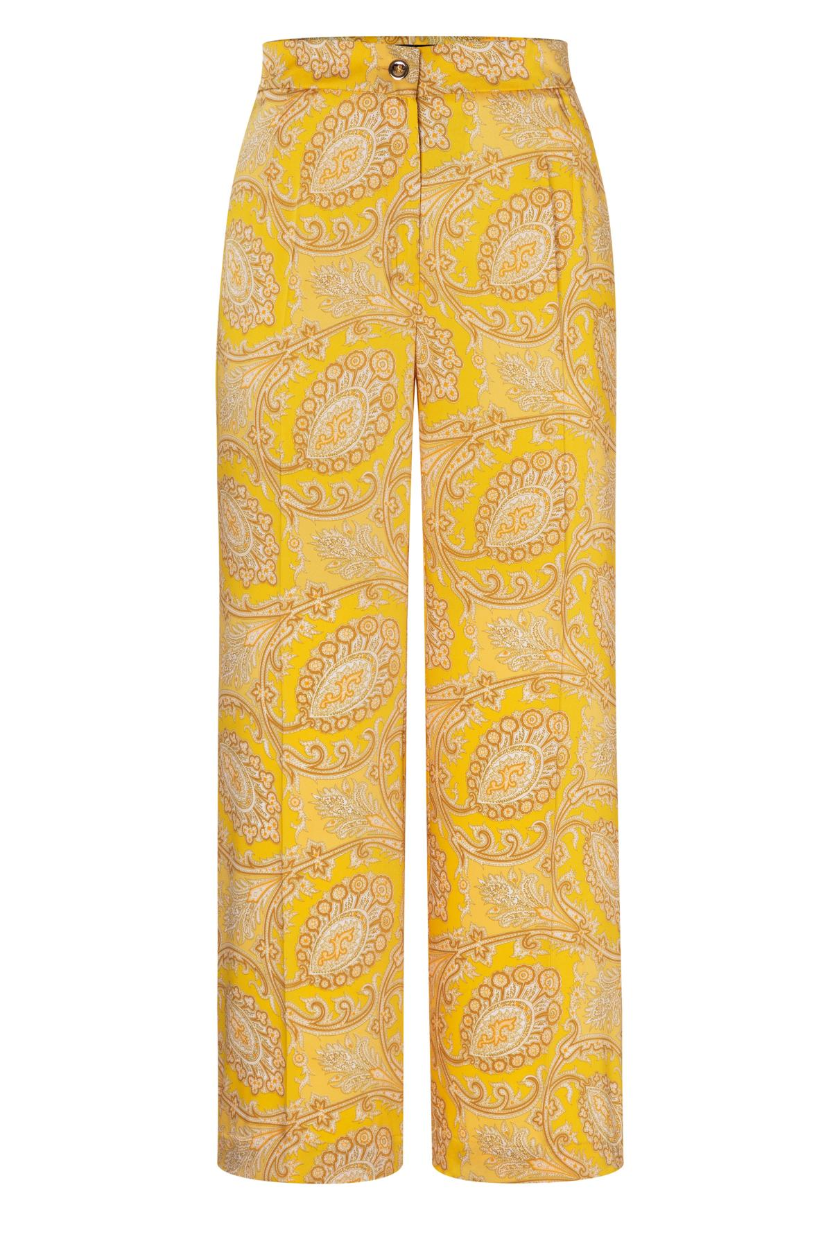 Ana Alcazar Cropped Pant Tefrosa Yellow