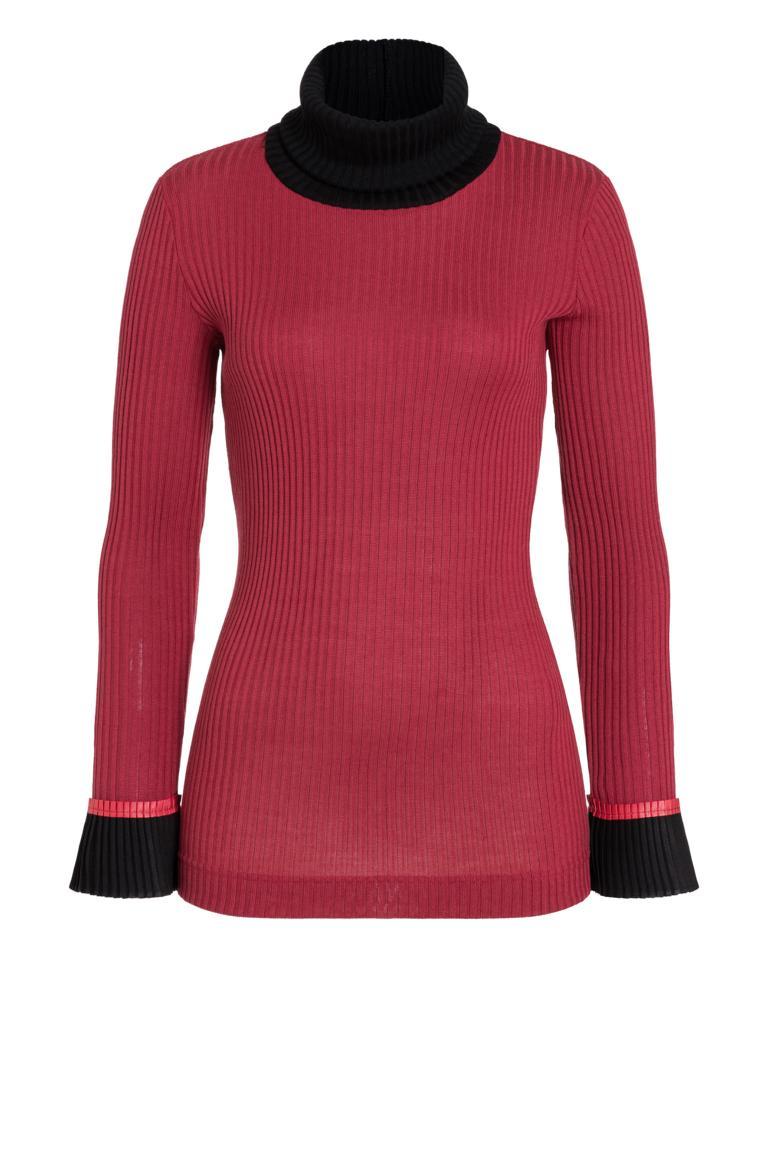 Ana Alcazar Rollkragen Shirt Picabea Rot