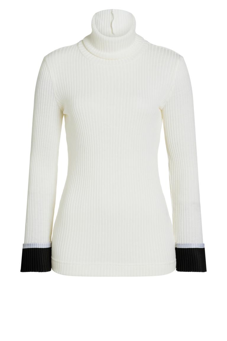 Ana Alcazar Rollkragen Shirt Piaby Weiß