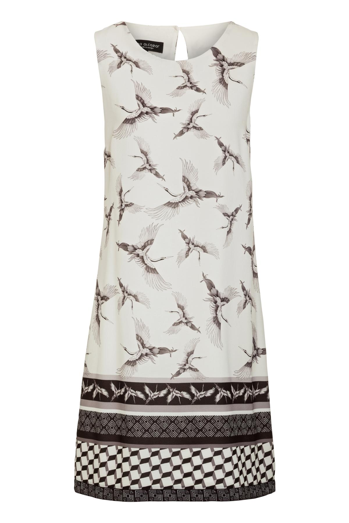 Ana Alcazar A-Linien Kleid  Meilea White