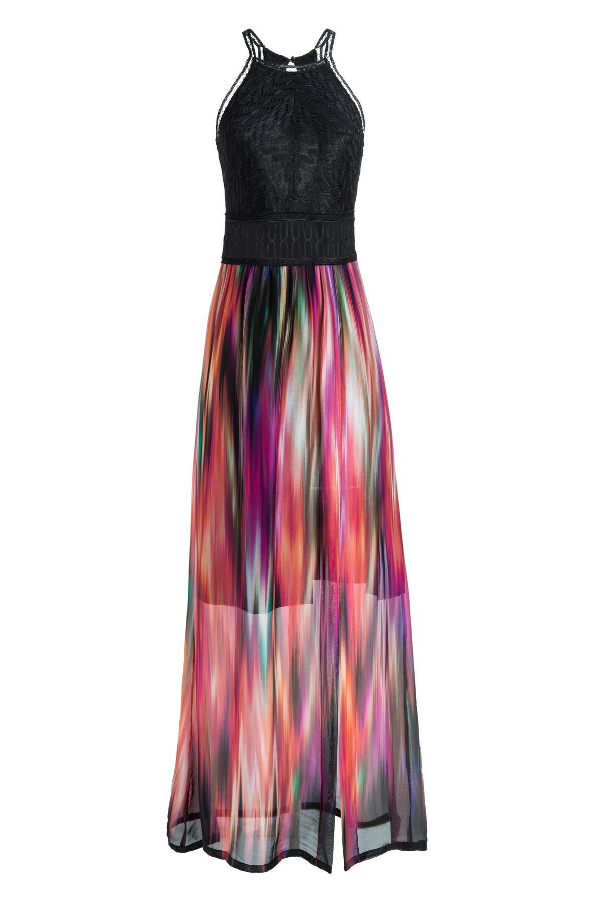 zijden maxi jurk