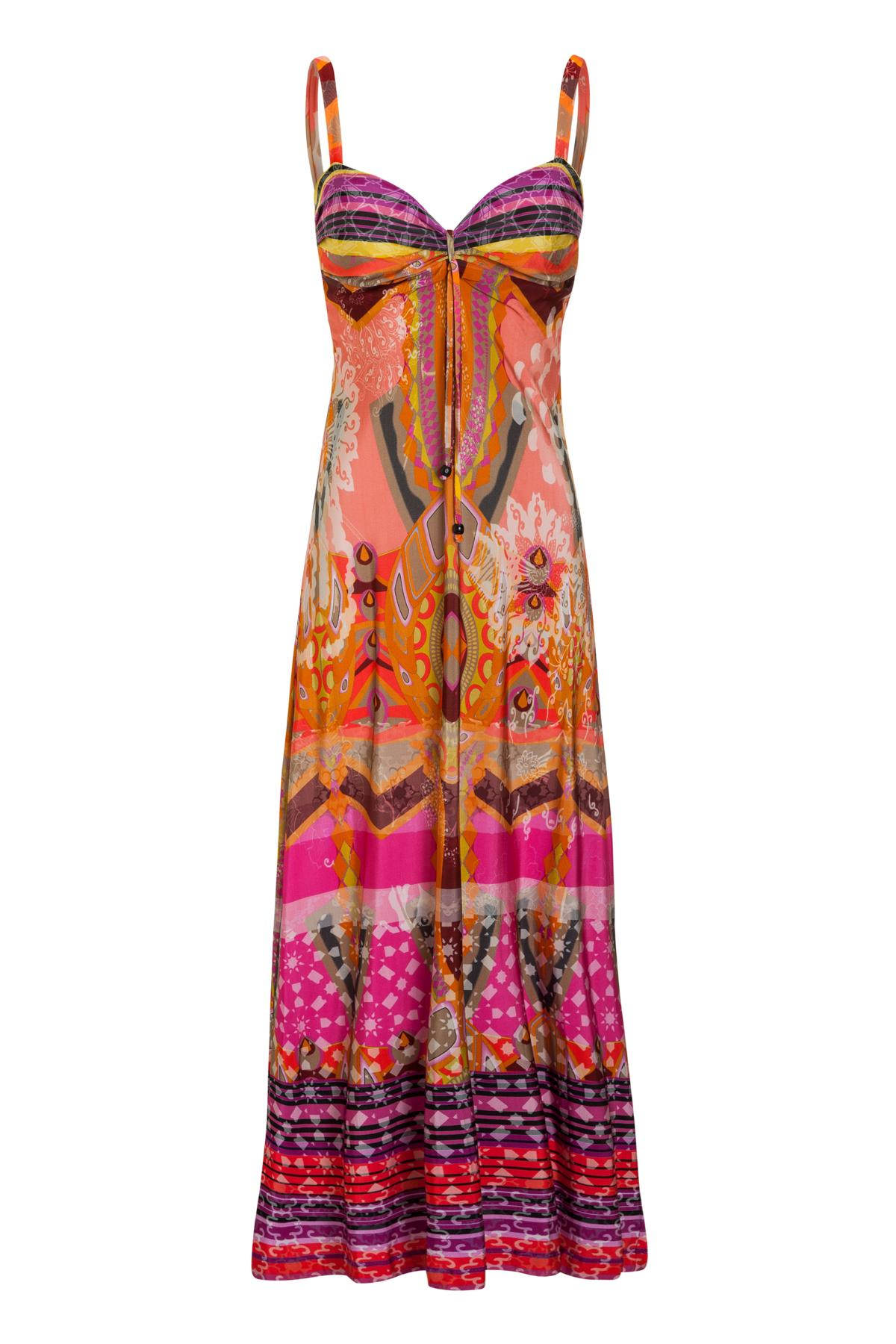74430d09e33a22 Colourful Maxi Dress Maniala with Graphic Print