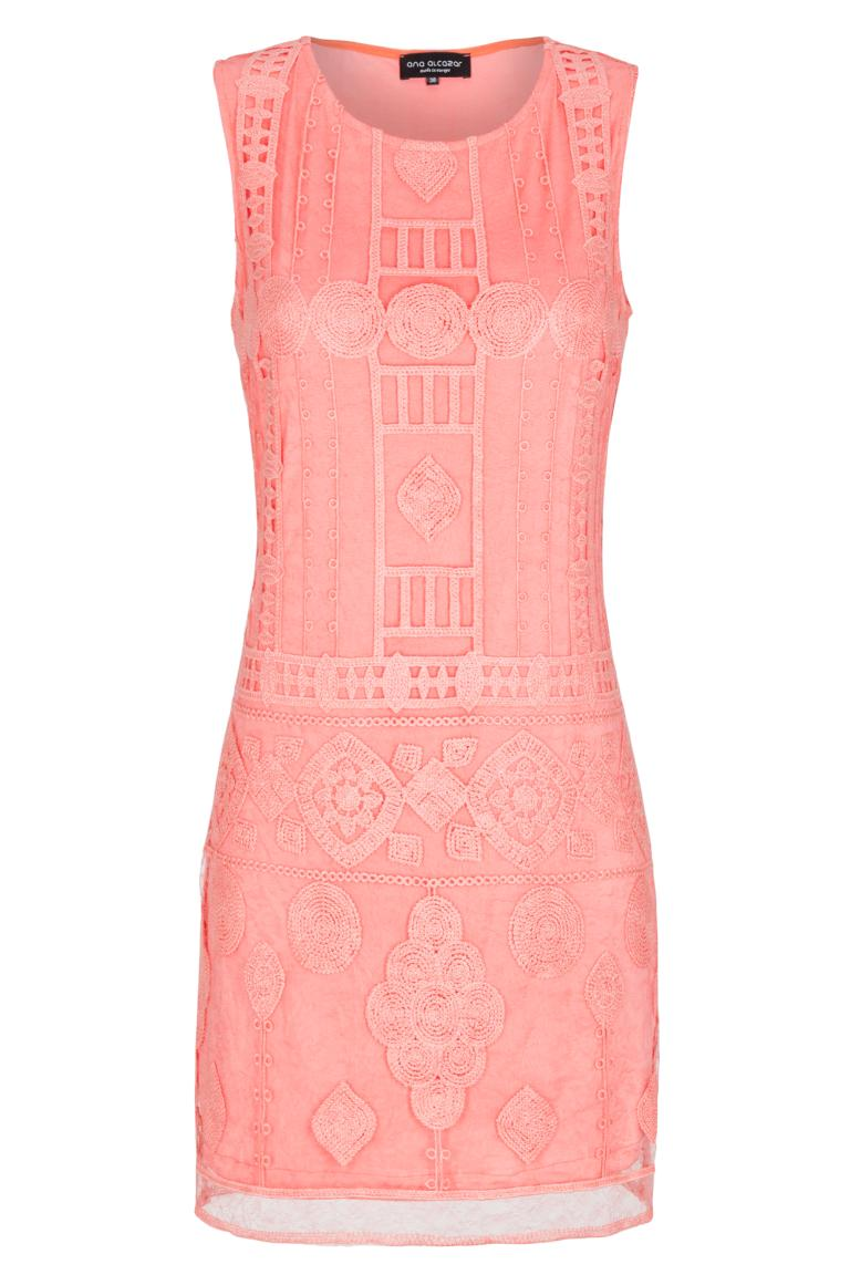 Ana Alcazar Mini Dress Rose Falicity