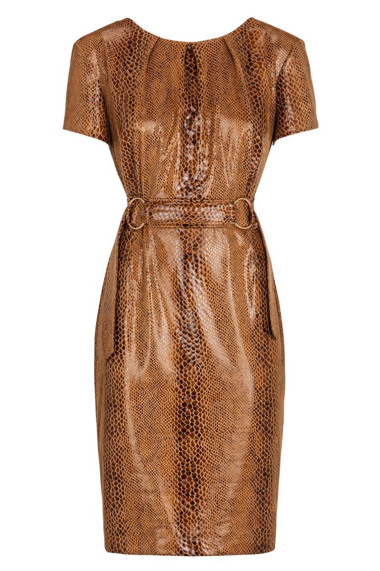 Ana Alcazar Shift Dress Kora Brown
