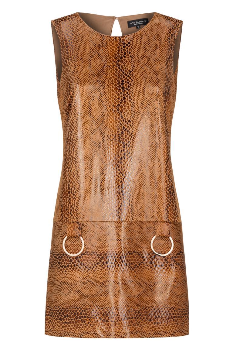 Ana Alcazar A-Shaped Dress Korana Brown