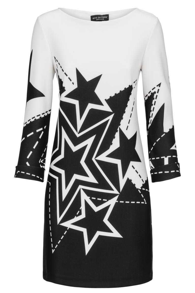 Ana Alcazar Langarm Kleid Darkstar