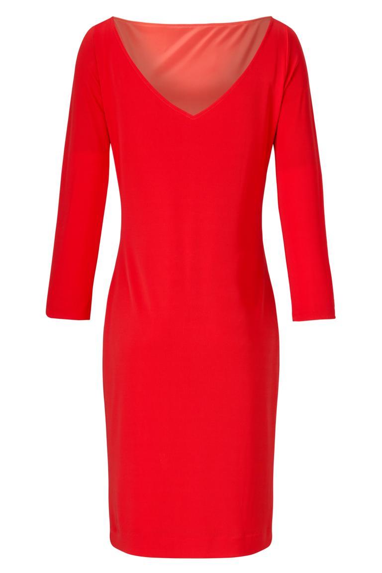 ana alcazar Schlichtes Kleid in Rot Antrolis