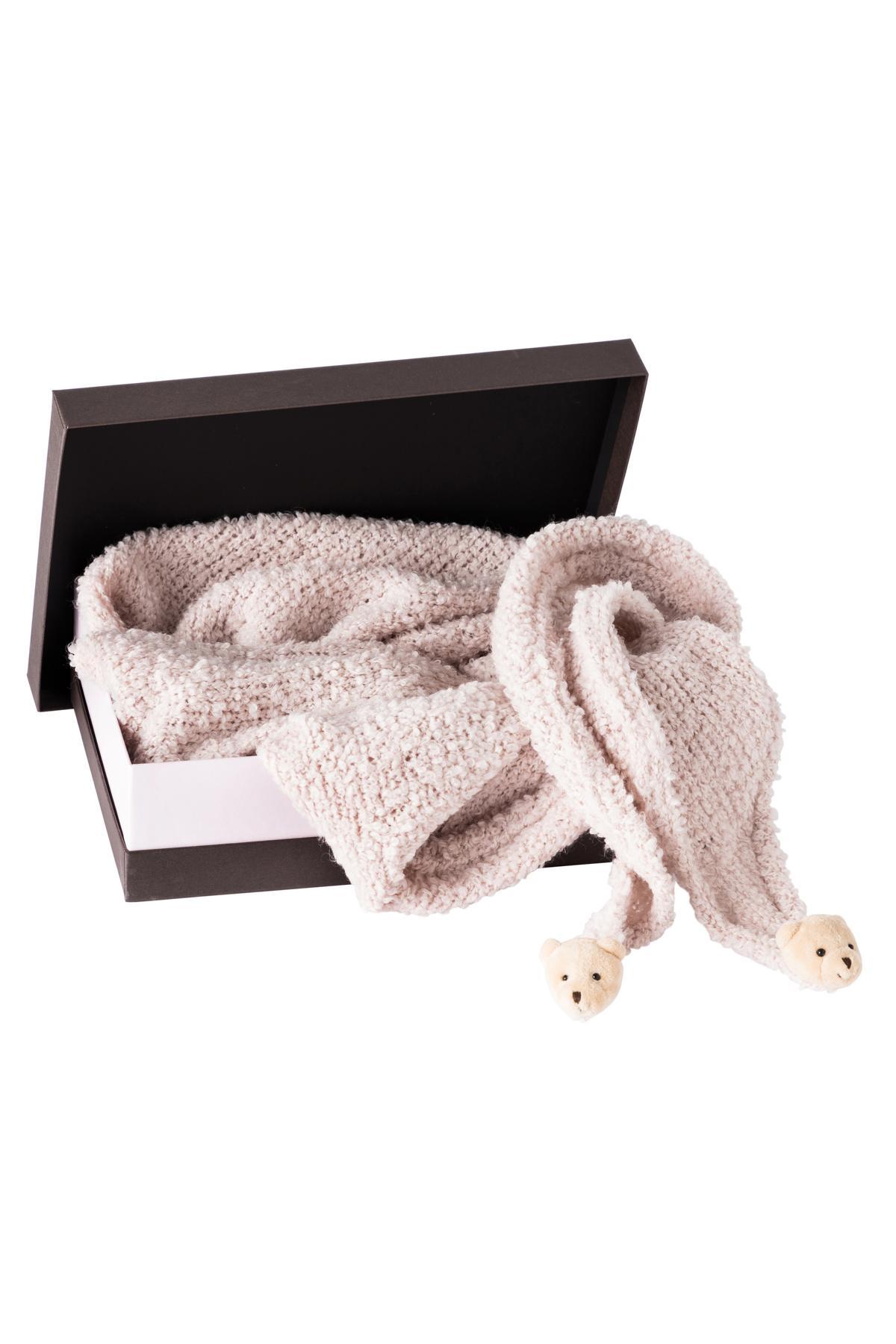 Geschenkebox Strickschal Teddy